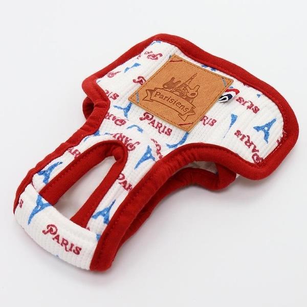 【PET PARADISE 寵物精品】Gaspard et Lisa 巴黎鐵塔透氣生理褲(4S/3S/SS/S) 寵物生理褲