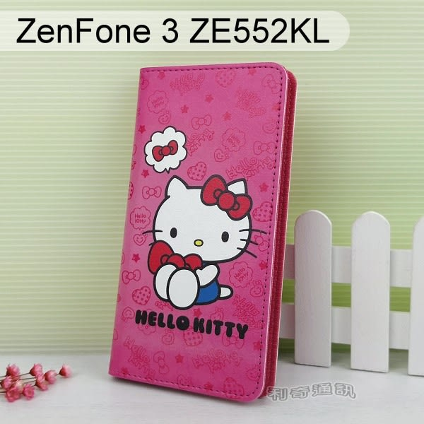 Hello Kitty 彩繪皮套 [可愛] ASUS ZenFone 3 ZE552KL (5.5吋)【三麗鷗正版】
