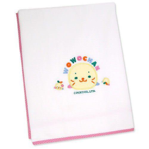 【奇買親子購物網】黃金海獺WOWOCHAN雙層毛巾布浴巾(藍/淡綠/粉紅)
