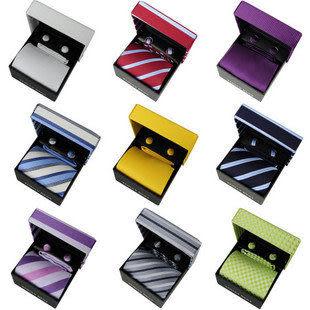 TODAYBEST* 正裝男士商務領帶禮盒三件(領帶/袖扣/方巾)禮盒組390元買3條送1條 限時瘋搶*