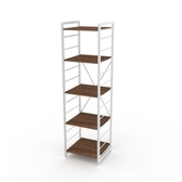 (組)特力屋萊特五層架白框/深木紋-40x40x158cm