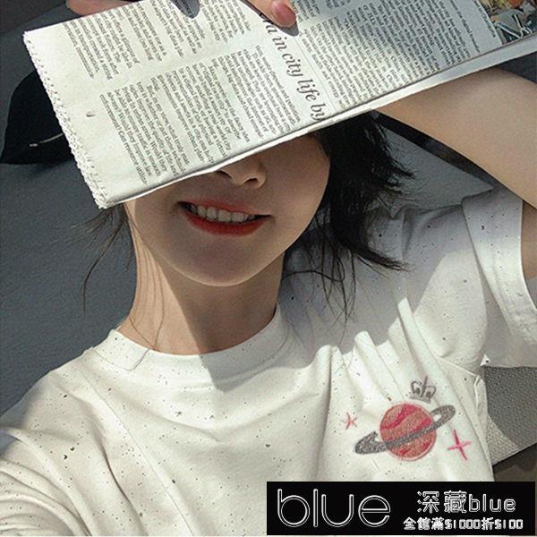 新款短袖t恤女學生韓版寬鬆打底衫白色體恤上衣半袖ins潮夏季【全館免運】