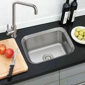 小戶型廚房水槽單槽SUS304不銹鋼加厚一體洗菜盆拉絲台下盆套餐 igo 好再來小屋
