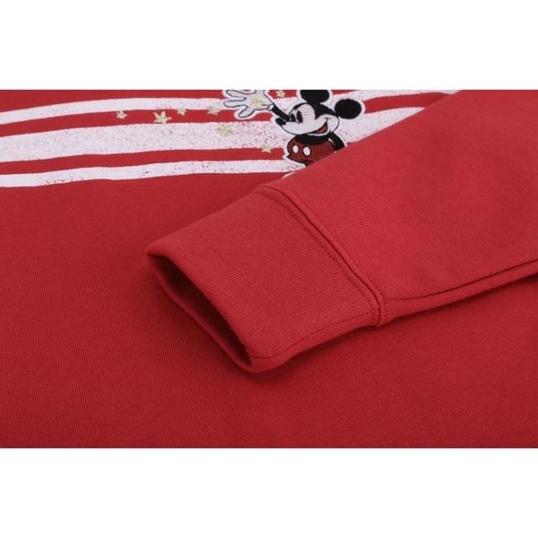 Gap女童保暖加絨迪士尼套頭連帽衫520415-摩登紅色