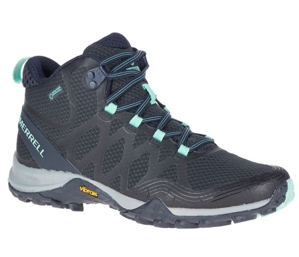 [好也戶外] Merrell SIREN 3 MID GTX中筒女登山鞋 深藍/淺綠 034280
