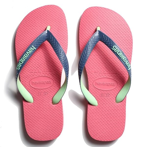 HAVAIANAS 哈瓦仕 人字拖 雙色鞋帶 TOP MIX 陶瓷粉 拖鞋 女 (布魯克林) 41155497600U