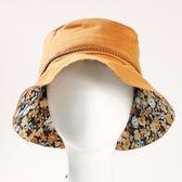 【北之特】頭部保護帽(小碎花遮陽款)-棕色