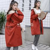 風衣 兩面穿風衣女中長款韓版寬鬆BF學生潮春季薄外套女 『歐韓流行館』