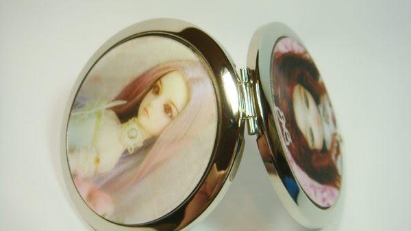 雙面鏡 圓形3D立體娃娃圖案( 型四 )