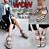 克妹Ke-Mei【AT51972】正韓空運代購透視膠片小羊皮露指羅馬高跟鞋