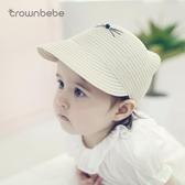 寶寶帽子春夏0-6-12個月嬰兒草帽1-3歲兒童帽子遮陽帽鴨舌帽韓國