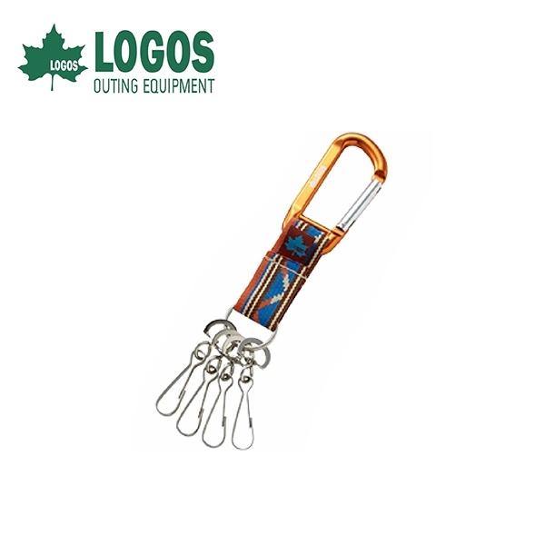 【LOGOS 日本 印地安鑰匙圈 橘 】72685103/鉤環/D型環/掛勾/鑰匙圈