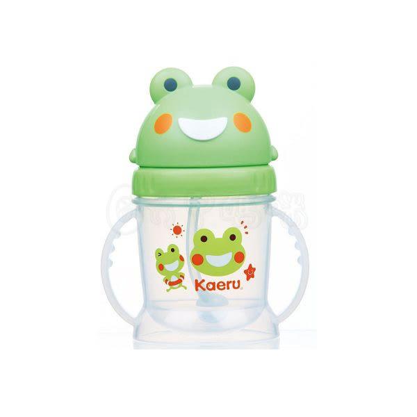 哈皮蛙自動吸管滑蓋練習杯250CC【六甲媽咪】
