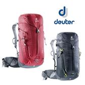 丹大戶外用品 德國【Deuter】TRAIL30L 輕量拔熱透氣背包3440519 黑/紅