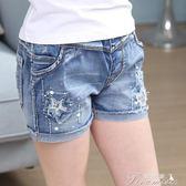女童牛仔短褲 夏季新款韓版時尚兒童裝熱褲子12中大童薄款15歲  提拉米蘇