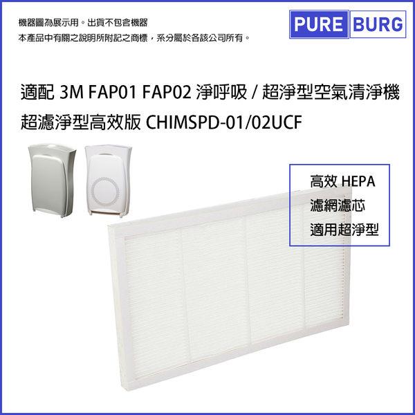 適用3M Filtrete Ultra Clean 淨呼吸 超濾淨型HEPA濾網FAP01 FAP02 CHIMSPD-01/02