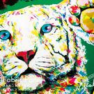 動物 老虎 無框畫 油畫 複製畫 木框 畫布 掛畫 居家裝飾 壁飾【老虎】