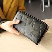 韓版時尚錢包長款錢夾大容量百搭簡約休閒皮夾女包【非凡上品】h484