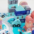 積木玩具3-6周歲女孩寶寶1-2嬰幼兒童桶裝木頭制拼裝益智早教男孩