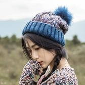 毛帽 混色 拼接 加絨 加厚 毛線帽 保暖 毛球 針織帽【JMX0007】 icoca  11/08