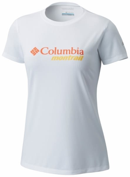 【Columbia】女款防曬30野跑短袖上衣-白色AR2130(WT)