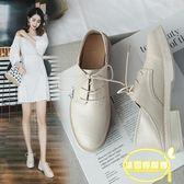 ins兩穿小皮鞋女英倫風復古潮新款韓版百搭學生粗跟單鞋