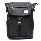 KANGOL 黑色 拉鍊 電腦包 旅行包 多夾層 後背包 素色  (布魯克林) 6955320320