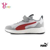 PUMA童鞋 男童運動鞋 女童運動鞋 記憶鞋墊 透氣 輕量跑步鞋 魔鬼氈 J9590#灰色◆OSOME奧森鞋業