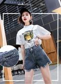 網紅泫雅同款夏季新款韓版熱褲寬鬆高腰a字牛仔短褲女潮- ciyo黛雅