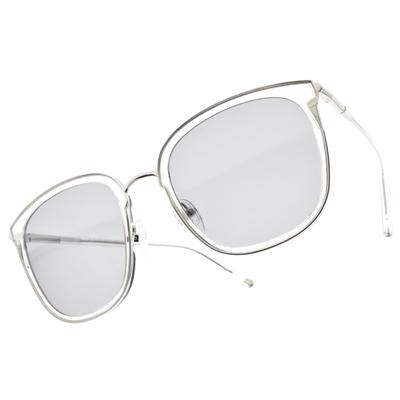 CARIN 太陽眼鏡 DANIEL C2 (透明-銀-藍鏡片) 時尚潮流 經典款 秀智 代言 明星 貓眼 # 金橘眼鏡