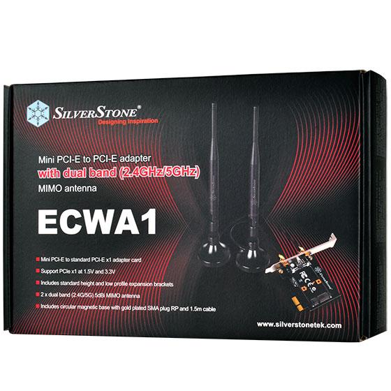 SilverStone 銀欣 SST-ECWA1 無線網卡 Mini PCIe轉PCIe轉接卡