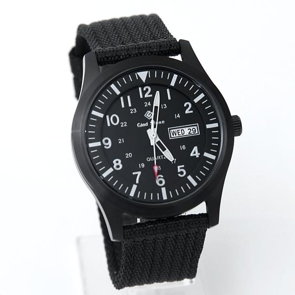 搭載SEIKO機芯全黑帆布手錶NE2042