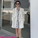 限時特惠外套 白色西裝外套女裝秋季新款氣...