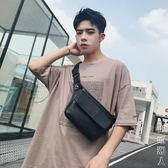 2019新款韓版男包時尚個性男包小腰包皮質簡約胸包后背包潮男包 街頭潮人