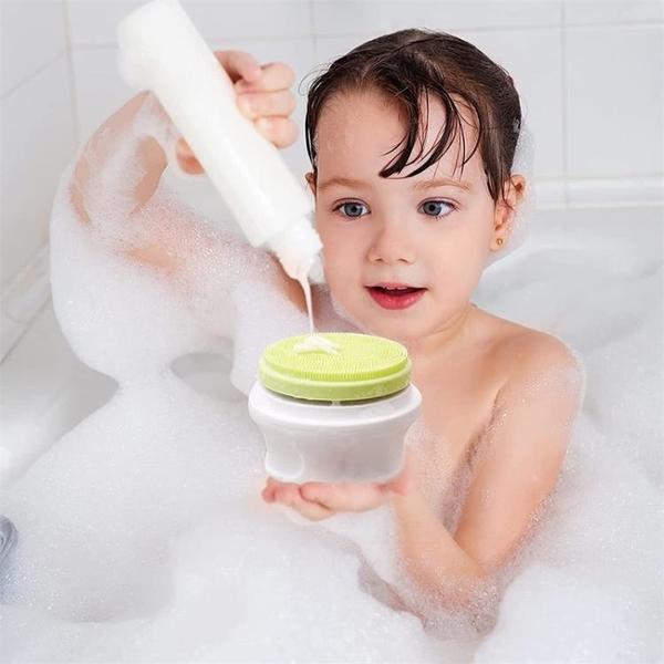 電動按摩搓澡神器硅膠洗澡刷長柄全自動充電擦澡儀搓泥搓背沐浴刷
