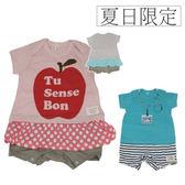 【GC0009】日本夏季短袖連身衣 新生兒服 兔裝 包屁衣 造型服  媽媽寶寶童裝 70/80