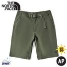 【The North Face 男 軟殼短褲《褐綠》】49BF/DWR/排汗/防潑水/運動褲/休閒褲/跑步
