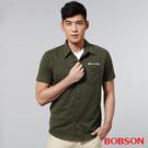 BOBSON 男款襯衫式針織上衣(25006-41)