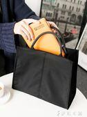 文件袋 韓版單肩斜背文件袋氣質時尚商務手拎手提公文包女通勤包學生書袋 伊鞋本鋪