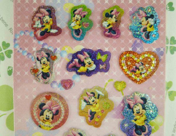 【震撼精品百貨】Micky Mouse_米奇/米妮 ~貼紙-愛心-米妮