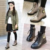 女童靴子秋冬款短靴2018新款兒童鞋冬季加絨厚棉鞋馬丁靴公主大童『櫻花小屋』