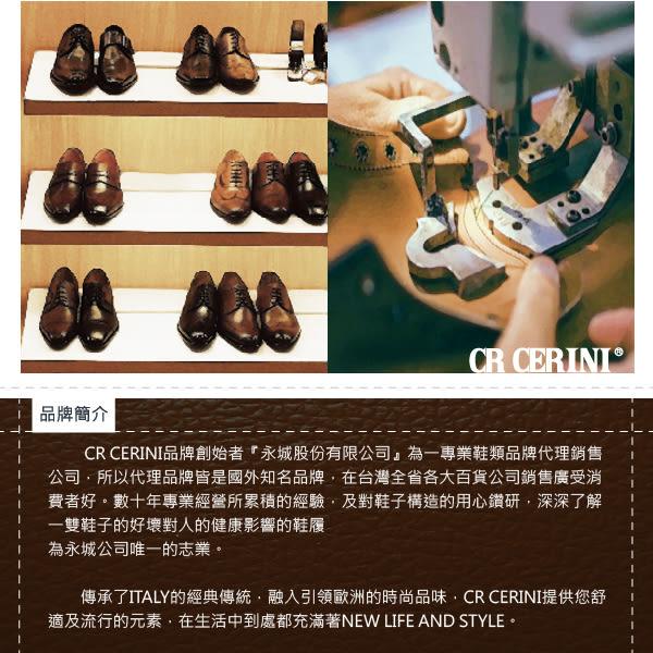 【CR CERINI】時尚沖孔橫飾德比紳士鞋  黑色(69471-BL)