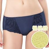 思薇爾-花伶系列M-XL蕾絲低腰平口內褲(楊桃綠)