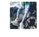 韓國原裝 大尺碼 找到自己 牛仔褲 刀割 破壞 破鬚 加大