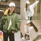 EASON SHOP(GU0405)秋寬鬆顯瘦長袖棒球服飛行外套風衣防曬衫開衫韓版休閒短款夾克外套女學生