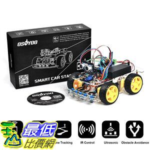 [107美國直購] US Robot Car Kit for Arduino Starter 4WD Bluetooth Tracking Gift Open Source