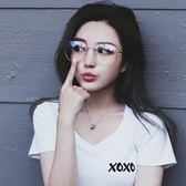 【優選】復古時尚平光鏡大方框圓臉女配眼鏡框架