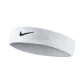 Nike 頭帶 Swoosh HeadBand 白色 黑色勾勾 毛巾布 男女適用 髮帶 【ACS】 NNN0710-1OS