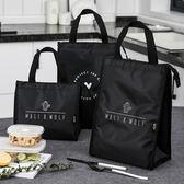 飯盒袋手提保溫袋大號防水牛津布日式便當包學生帶飯的手拎午餐包