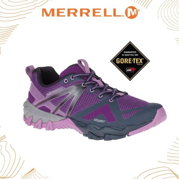 【MERRELL 女 MQM FLEX GORE-TEX《紫/深藍》】77314/休閒鞋/登山鞋/功能鞋/戶外/健行